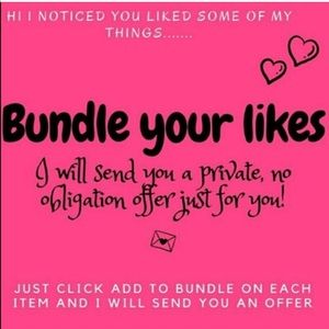 Bundle your likes and I'll send you an offer.
